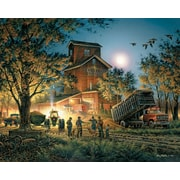 White Mountain Puzzle 24 x 30 Terry Redlin Jigsaw Puzzle,  Bountiful Harvest