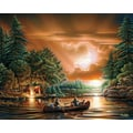 White Mountain Puzzle 24in. x 30in. Terry Redlin Jigsaw Puzzle, in. Evening Rendezvous in.