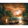 "White Mountain Puzzle 24"" x 30"" Terry Redlin Jigsaw Puzzle, "" Evening Rendezvous """
