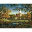 "White Mountain Puzzle 24"" x 30""Jigsaw Puzzle Terry Redlin, "" Sunday Morning """