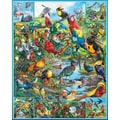 White Mountain Puzzle 24in. x 30in. Jigsaw Puzzle, in. Most Beautiful Birds Of The World in.