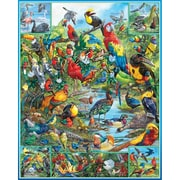 White Mountain Puzzle 24 x 30 Jigsaw Puzzle,  Most Beautiful Birds Of The World