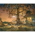 White Mountain Puzzle 24in. x 30in. Terry Redlin Jigsaw Puzzle, in. Twilight Time in.