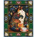 White Mountain Puzzle 24in. x 30in. Jigsaw Puzzle, in. Painted Cat in.
