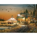 White Mountain Puzzle 24in. x 30in. Terry Redlin Jigsaw Puzzle, in. Welcome To Paradise in.