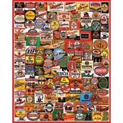 """White Mountain Puzzle 24"""" x 30"""" Charlie Girard's Jigsaw Puzzle, """" Cheers """""""