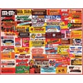 White Mountain Puzzle 24in. x 30in. Charlie Girard's Jigsaw Puzzle, in. Candy Wrappers in.