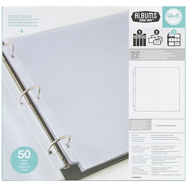 We R Memory Keepers Ring Page Protectors, 12in. x 12in.