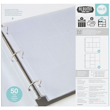 We R Memory Keepers Multi Pack Ring Photo Sleeve, 12in. x 12in.