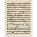 Stampendous® 3in. x 4 1/2in. Mounted Stamp, Music Score