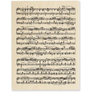 "Stampendous® 3"" x 4 1/2"" Mounted Stamp, Music Score"