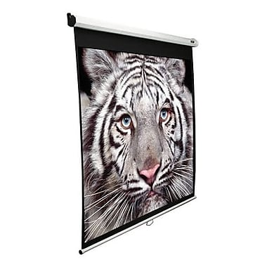 Elite Screens® Manual SRM Series 84in. Manual Projection Screen, 4:3, White Casing