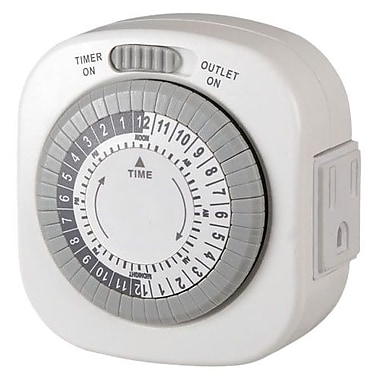 AmerTac™ TM77DHB-4 Indoor 1-Outlet Daily Mechanical Timer