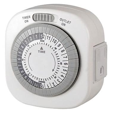 AmerTac™ TM77DHB-4 Indoor 1-Outlet Daily Mechanical Timer