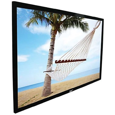 Elite Screens® ezFrame Series 100in. Fixed Frame Projection Screen, 16:9, Black Casing