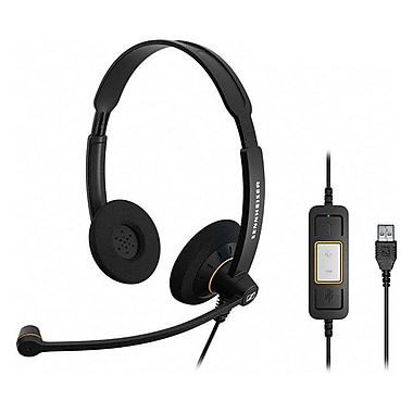 Sennheiser SC 60 USB ML Headset, Black/Orange