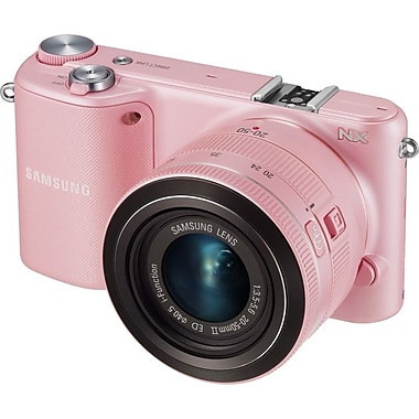 Samsung NX2000 20.3MP Smart Camera With 20 - 50 mm Lens, Pink