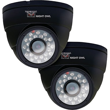Night Owl® Hi-Resolution 600 TVL Indoor Security Dome Camera, Black, 2/Pack