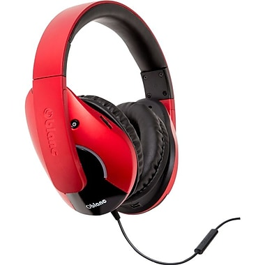 Syba™ Oblanc SHELL210 Dual Driver Speaker Headphone With Mic, Red