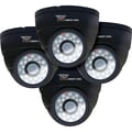Night Owl® Hi-Resolution 600 TVL Indoor Security Dome Camera, Black, 4/Pack