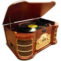 PyleHome® Vintage PTCDS2UI Classical Turntable With AM/FM Radio/CD/Cassette, 33.3/45/78 RPM