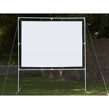 Elite Screens® DIY Screen Series 123in. Portable Projection Screen, 16:9, Black Casing