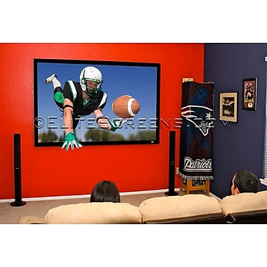 Elite Screens® SableFrame Series 138in. Projection Screen, 2.35:1, Black Casing