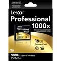 Lexar LCF16GCTBNA10002 Professional 1000x Compact Flash Card, 16GB