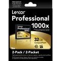 Lexar LCF16GCTBNA10002 Professional 1000x Compact Flash Card, 32GB