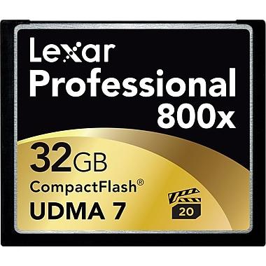 Lexar LCF32GCTBNA8002 Professional 800x Compact Flash Card, 32GB