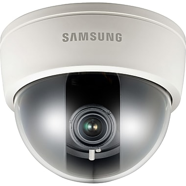 Samsung SCD-3080STA High Resolution Varifocal Analog Dome Camera, Ivory/Black