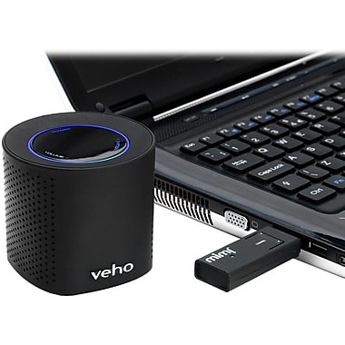 Veho VSS002WBLK MIMI Qube 2.4 GHz WiFi Portable Speaker System With USB, Black
