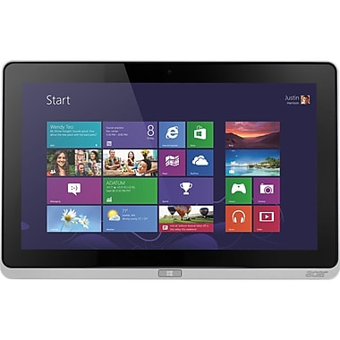 Acer Iconia W700-6680, 11.6in. Tablet, 4 GB, Windows 8, Wi-Fi, Silver