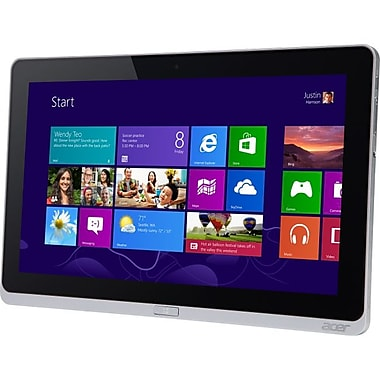 Acer Iconia W700-6602, 11.6in. Tablet, 64 GB, Windows 8, Wi-Fi, Silver