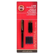 Koh-I-Noor Calligraphy Pen Set, Medium/Broad Nib, Black