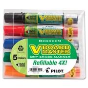 Begreen V Board Master Bullet Point Dry-Erase Marker, Assorted, 5/Pack