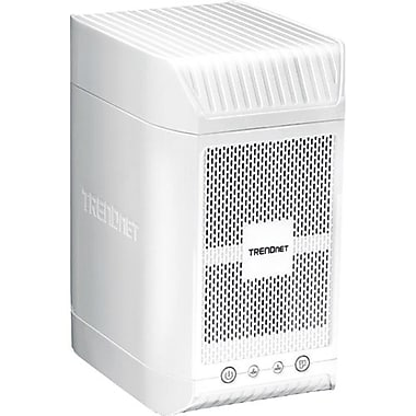 TRENDnet TN-200T1 2-Bay NAS Media Server Enclosure, 1 TB