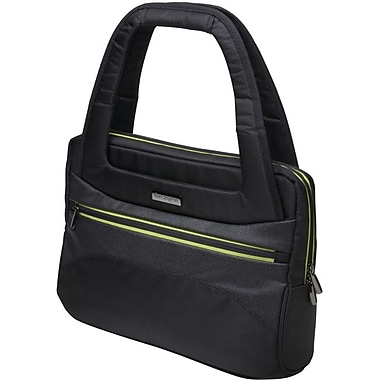 Kensington Triple Trek 14in. Ladies Tote Carrying Case for Ultrabook, Black, Green