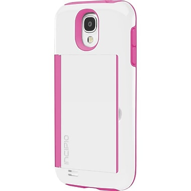 Incipio Stowaway Credit Card Case With Integrated Stand For Samsung Galaxy S4, White, Pink