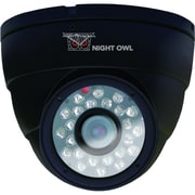 Night Owl CAM-DM624-B 600 TVL Security Dome Camera With 50' of Night Vision, Black