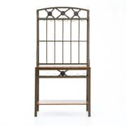 SEI 67 3/4H x 34 1/4W x 17D Decorative Metal/Glass Baker's Rack With Wine Storage, Coffee Brown