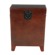 SEI 23 3/4 x 20 x 20 Wood Square Pyramid Trunk End Table, Espresso