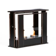 SEI Portable Indoor/Outdoor Gel Fuel Fireplace, Black