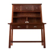 SEI Mendell MDF, Ash Veneer Desk and Hutch, Espresso