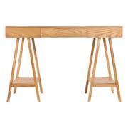 SEI Alaska Wood Desk, Oak