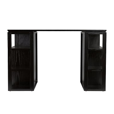SEI Bradford Wood Desk, Black