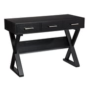 SEI Carlos MDF Ash Veneer Desk, Black