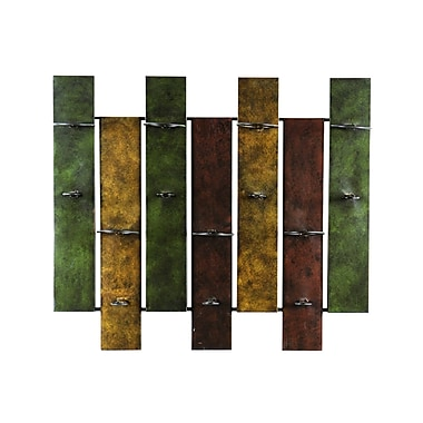 SEI 27 1/4in.H x 32in.W x 8in.D in.Navarrain. Wall Mount Metal Wine Rack