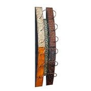 "SEI 33 1/4""H x 8 3/4""W x 7""D ""Adriano"" Wall-Mount Metal Wine Rack Storage"
