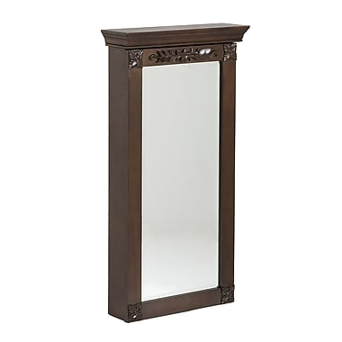 SEI Roma Wood Wall Mount Jewelry Armoire, Espresso